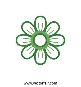 cute flower spring half color style icon