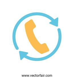 free delivery concept, call service icon, flat style