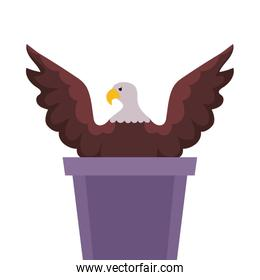 Eagle and podium of usa happy presidents day vector design