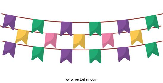 Isolated party banner pennant vector design