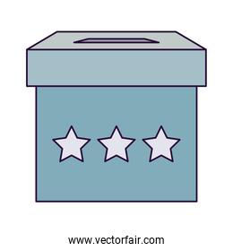 Isolated vote box vector design