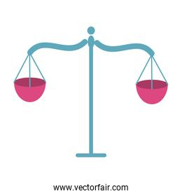 scale balance justice isolated icon