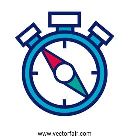 time chronometer line and fill style icon