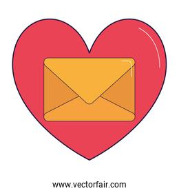 heart with envelope icon, colorful design