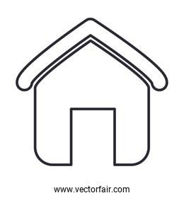 house shape icon over white background