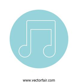 musical note icon, colorful design