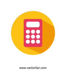 shopping online concept, calculator icon, block style