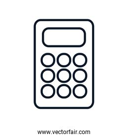 shopping online concept, calculator icon, line style