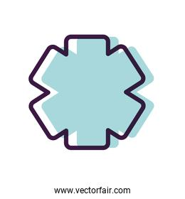 healthcare concept, emergency star icon, line color style