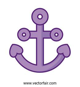 anchor icon, flat style