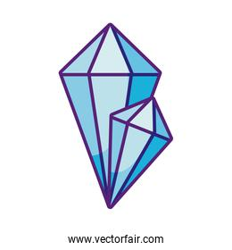 diamonds icon, flat style
