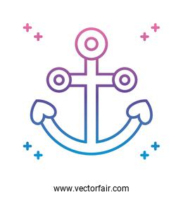 anchor icon, gradient line style
