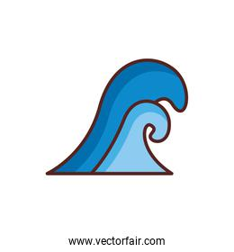 sea wave water line color style