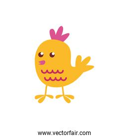 cute little chick easter flat style icon