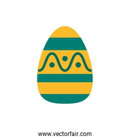 easter egg painted with waves flat s flat style