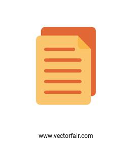 document paper flat style icon