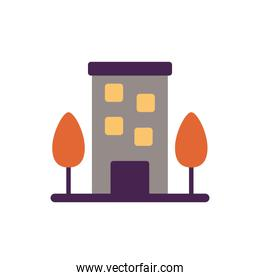 building front facade flat style icon