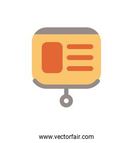 paper board office supply flat style icon
