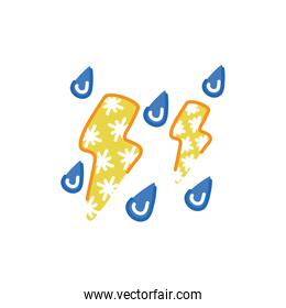 electric storm weather symbol isolated design