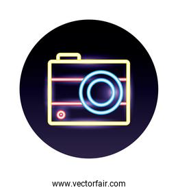 camera photographic neon lights style icons
