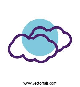 cloud sky line style icon