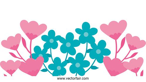 Isolated natural flowers vector design