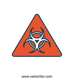 biohazard sign icon, line and fill style