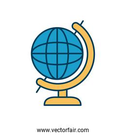 geography tool icon, line and fill style