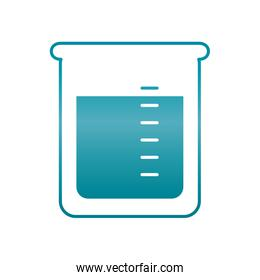 chemical beaker icon, gradient style
