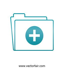medical report folder icon, gradient style