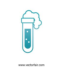 test tube with foam icon, gradient style