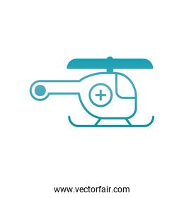 medical helicopter icon, gradient style