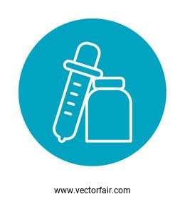 dropper and test bottle icon