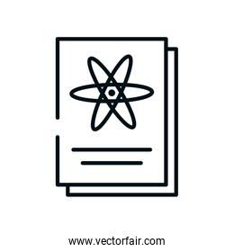 science report icon, line style