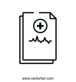 medical reports icon, line style