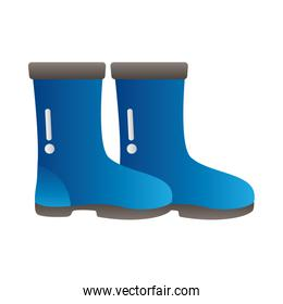 blue rubber boots protection tool degradient style