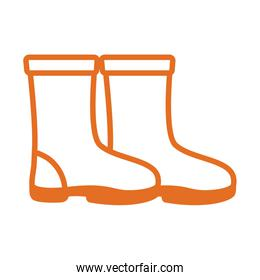 rubber boots protection toolline style