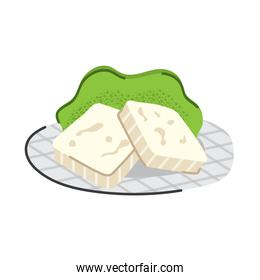 delicious cheese and lettuce nutritive food icon