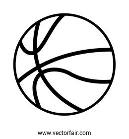 basketball ball sport on white background