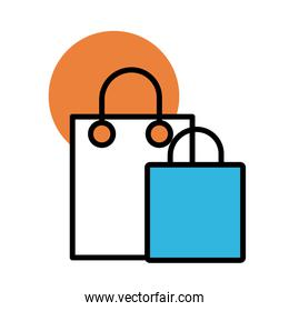 shopping bag paper line and fill style icon