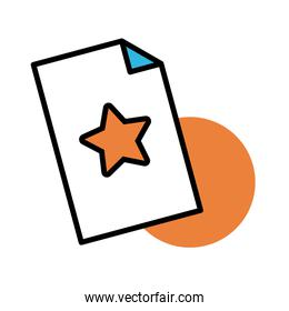 paper document line and fill style icon