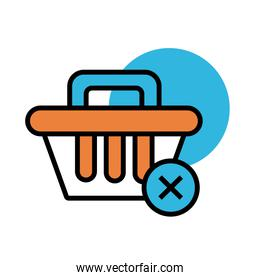 shopping basket commerce line and fill style icon