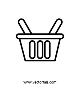 shopping basket commerce line style icon