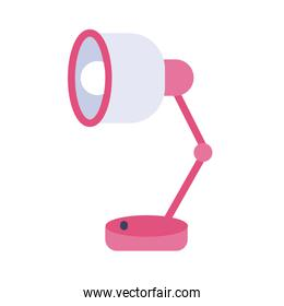 desk lamp flat style icon
