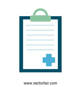 clipboard with medical order flat style