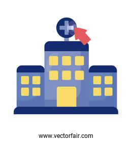 cursor mouse with hospital building health online detaild style