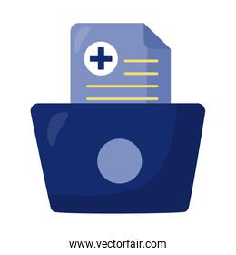 laptop with medical order health online detaild style
