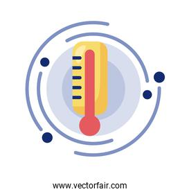thermometer measure temperature detaild style icon