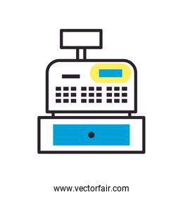 cash register fill syle icon vector design