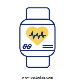 smartwatch with heart cardio health online linear style